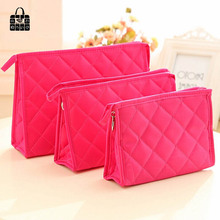 ROSEDIARY Large capacity Diamond lattice Women Cosmetic Bag Organizer Bag Zipper Portable Travel Handbag Makeup Bag storage