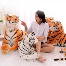 Hot Sale 3D Simulation Tiger Plush Toys Sitting Tiger Soft Toys White / Black Tiger Stuffed Animal For Children Birthday Gift(China)