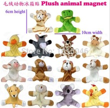 Free Shipping 6Pcs Cute Animal Refrigerator Magnet Stickers Plush Fridge Magnet Sticker Children Birthday Gift Christmas Gift