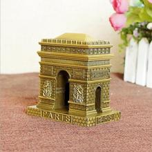 2017 World famous building models ornaments France Paris Arc de Triomphe zinc alloy handicrafts store home decoration gifts