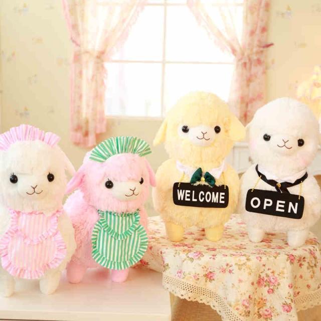 2015 New 42cm 4 kinds Kawaii Japan Amuse Alpacasso Coffee Shop Waiter Alpaca Plush Horse Soft Toys for Children<br><br>Aliexpress