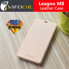 Leagoo M8 Case with battery cover 100% Original Official Luxury Leather Flip Back Cover Case For Leagoo M8 Pro Mobile Phone