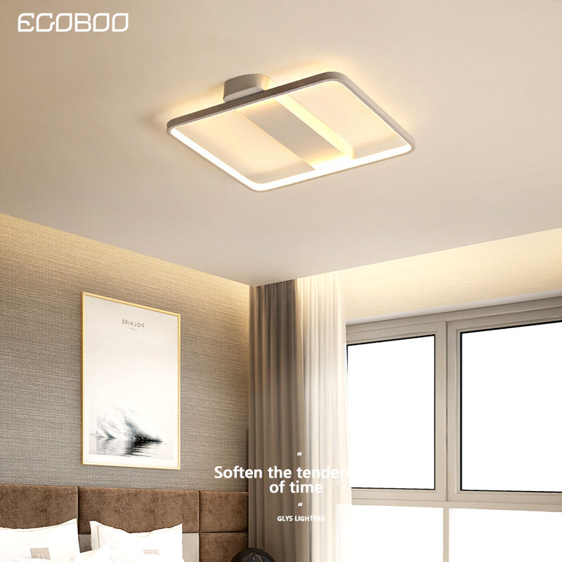EGOBOO Led master bedroom lamp room living room lamp ceiling lamp simple modern warm romantic creative personality Nordic wind w