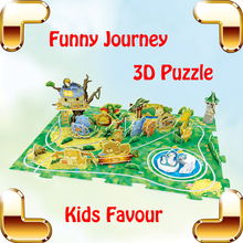 New Year Gift Journey Park & Zoo 3D Puzzles Model Children DIY Handmade Toys Education Learning Baby IQ Game Training Present