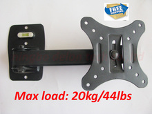 free shipping 10 inch 24in 30 inch tiltable swivel LCD LED PLASMA tv wall bracket mount stand holder