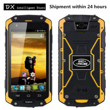"Guophone V9 IP68 Waterproof Shockproof Mobile Cell Phone 4.5"" MTK6572 Dual Core 512MB+4GB 8MP GPS 4000mAh WCDMA 3G SmartPhone"