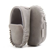 New Arrival PU Suede Leather Newborn Baby Boy Girl Baby Moccasins Soft Moccs Shoes Soft Soled Non-slip Footwear Crib Shoe(China)