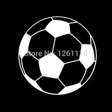 50 pcs/lot Soccer Ball Graphic ~ Window Kayak Canoe Wall Decal Reflective Vinyl Car Sticker Truck Bumper 8 Colors