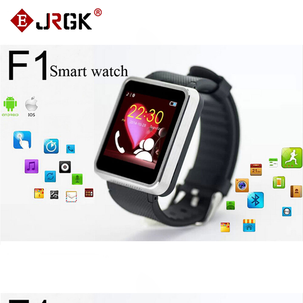 IP67 Waterproof Bluetooth Smart Watch F1 Sync Call SMS Anti Lost smartwatch with Camera SIM for Samsung HTC Android Smartphones<br>