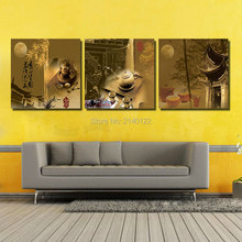 3Pcs Canvas Print Tea Culture Chinese Style No Framed Art Canvas HD Picture Home Decor Hanging Set Not 3D Embroidery0207(Thailand)