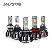 MAXGTRS Car LED Headlight H4 H7 H8 H11 9005 9006 HB3 9012 Canbus Lumileds Chip Auto Fog DRL Replace Light Source Driving Bulbs(China)