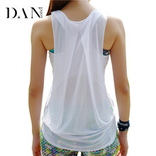 DANENJOY Quick Dry Yoga Shirts Women Sports Jersey Top Fitness Gym Sleeveless Vest Running Blouse Breathable Sportswear 2017