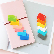6pcs/set Creative Candy Color Test Folder Multi-purpose Food Sealing Clamp Holder Pictures Bookmarks Subject Classification Clip