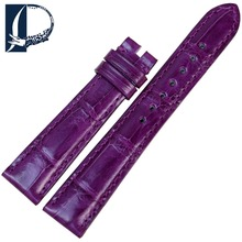 Pesno Suitable for Zenith Captain Women Watch Band Alligator Skin Leather Watch Strap 17mm Beautiful Purple Watch Accessories
