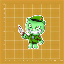 American animation Happy Tree Friends Flippy decal Notebook skateboard trolley case backpack Tables PVC love cute car sticker