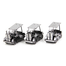 Golf Maintenance Cart Car Styling Fun 3d Metal Diy Miniature Model Kits Puzzle Toys Children Educational Boy Splicing Hobby(China)