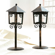 Vintage Candlestick Moroccan European-style Retro House Candlestick Iron Candlestick Candle Holder Home Decoration Candle Holder