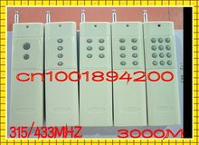 3000M Radio Controller/Transmitter 2/4/6/8/12CH/ Buttons RF Wireless Remote Control/315/433.9MHZ IC PT2260 4.7M 9V battery