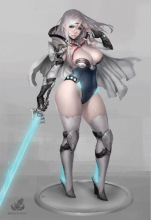 Pinup Sci-fi Twilight Knight Resin Model kit Free Shipping