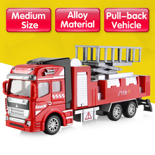 DODOELEPHANT Alloy Pull Back Car Diecast Brinquedo Toy Fire Truck Car Model Toys For Boys Girls Children Christmas Gift(China)