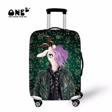 ONE2 2017 New Design luggage cover about Capricorn of Twelve Constellations suitcase cover with shakira for teenager students