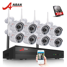 Plug And Play 8CH CCTV System Wireless NVR Kit P2P 720P HD IR WIFI IP Camera Outdoor Security Camera Surveillance System 2TB HDD
