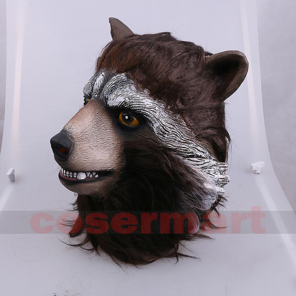 Guardians of the Galaxy 2 Rocket Raccoon Mask Marvel Movie Superhero Groot Peter Quill Helmet Cosplay Mask Halloween Party Prop (6)