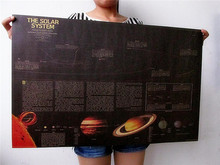 Vintage Classic Old The Solar System Drawings Poster Bar Home Decor Retro Kraft Paper Painting 72x46cm Wall Sticker