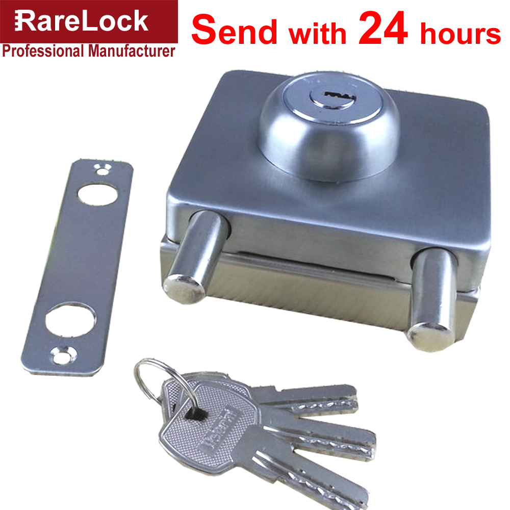 Rarelock Christmas Supplies Glass Door Lock Stainless with 3 Brass keys Lock for Office Kitchen Intenior Door DIY b<br>