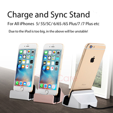 GoesCare Original Quality Fast Charging Charger Dock Station For iPhone X Desktop Cradle Stand For iPhone 5 6 6S 7 8 Plus(China)