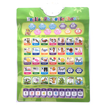 infant early learning education phonetic chart 1 side Russian English language electronic baby ABC alphabet sound chart(China)