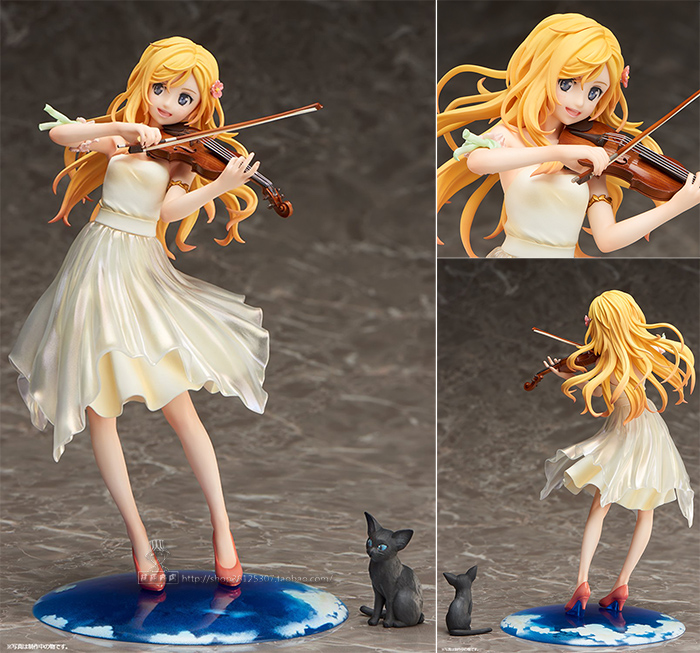 Your Lie in April Miyazono Kaori Dress Ver. 1/8 Scale Pre-painted Figure Collectible Model Toy 20cm<br>