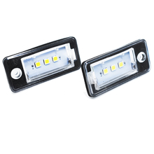 Hopstyling 2PCS Led Number plate light A3 Cabriolet A4 S4 A6 C6 RS4 Avant quattro RS6 Plus A8 Q7 led license plate lamp For AUDI