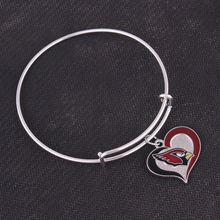 Classic Arizona Cardinals Chicago Bears Dolphins Chargers Giants Eagles Football team logo swirl Adjustable charm Bangle(China)