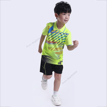 Adsmoney Summer Boys Girls Sports Clothes sets Badminton Short T shirt tennis outfit Sports Wear Children's Running Clothes