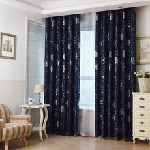 Pastoral style silver flower blackout curtains colorful thermal insulation cloth curtain children's bedroom curtain