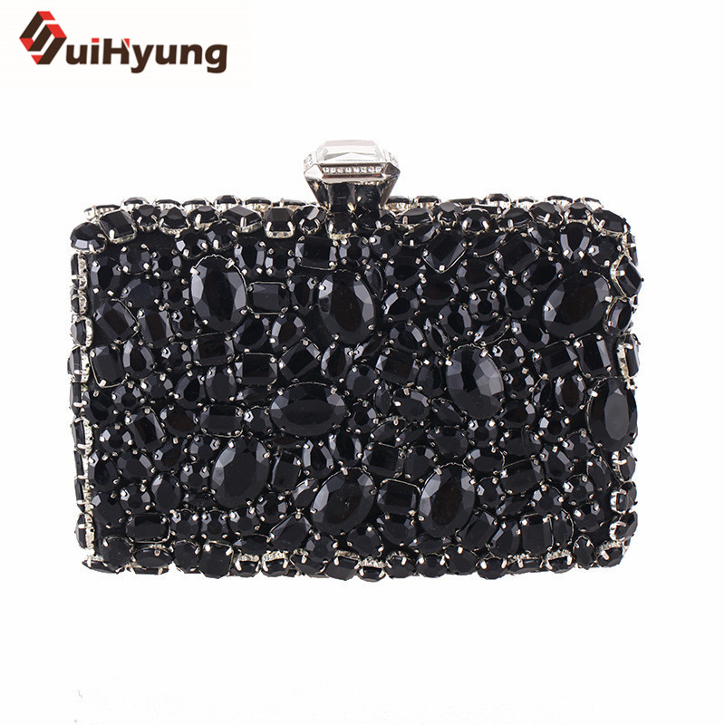 Suihyung Women Full Diamond Handbags Clutch Bags Gorgeous Rhinestones Ladies Party Evening Bags Small Purse Day Clutch Bolsas <br>