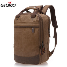Factory direct foreign trade trend of casual canvas bag man bag computer backpack student leisure shoulder bags