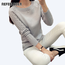Refeeldeer Hot Sale Winter Sweater Women 2017 Knitted Long Sleeve Jumper Women Sweater And Pullover Female tricot pull femme Top