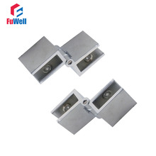 2pcs 90 Degree Adjustable Glass Hinge Fit 6-8mm Cabinet Door Hinges for Bathroom Shower Zinc Alloy Glass Hinge Clamps(China)