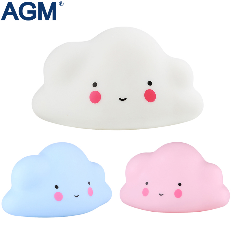 AGM LED Night Light Cloud Lamp Luminaria Cute Pink White Nightlight Battery Novelty Light For Baby Children Gift Decor Ornaments(China)