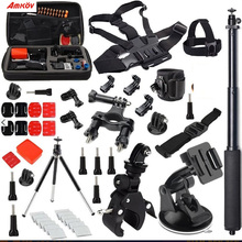 Buy AMKOV Gopro Accessories Set Go Pro Hero 5 4 3 2 Kit Mount SJ4000 Eken / SOOCOO / Xiaomi Yi 4k Camera Tripod 13M for $39.00 in AliExpress store