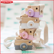 Cute Wooden Toy Camera For Baby Kids Room Decor Furnishing Articles Child Christmas Birthday Gifts Nordic European Style(China)