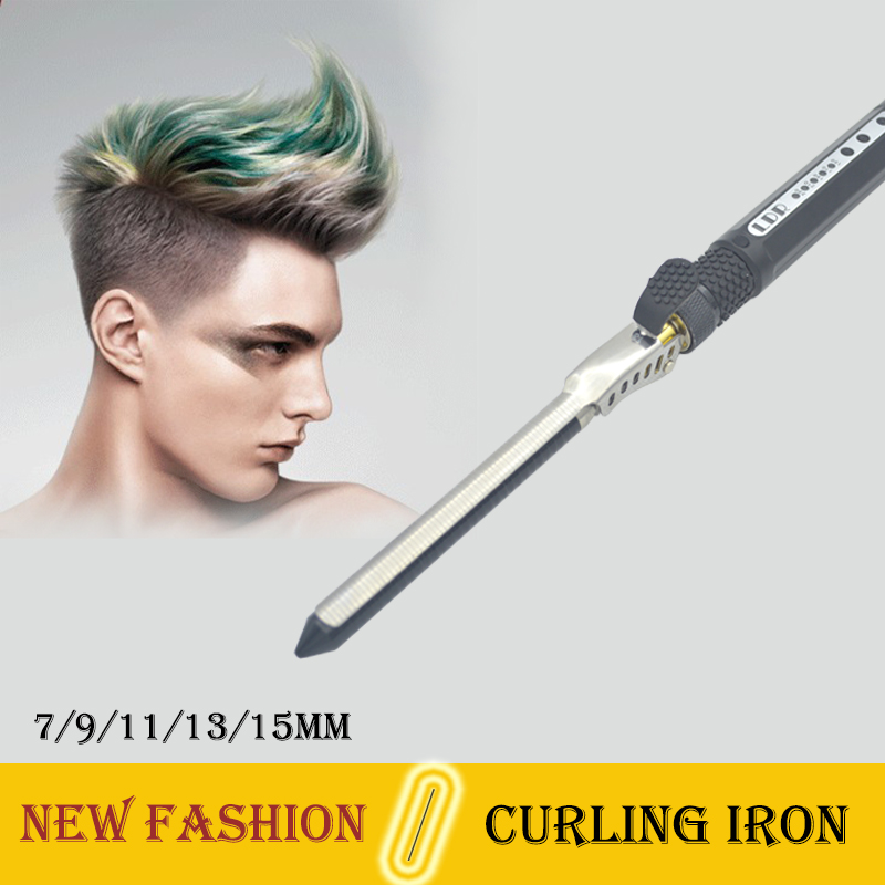 NEW 2017 Ceramic 7mm Curling Wand 5 Adjustment Temperature Deep Curly Hair Curlers Rollers Curling Iron For Men 9/11/13/15mm<br>