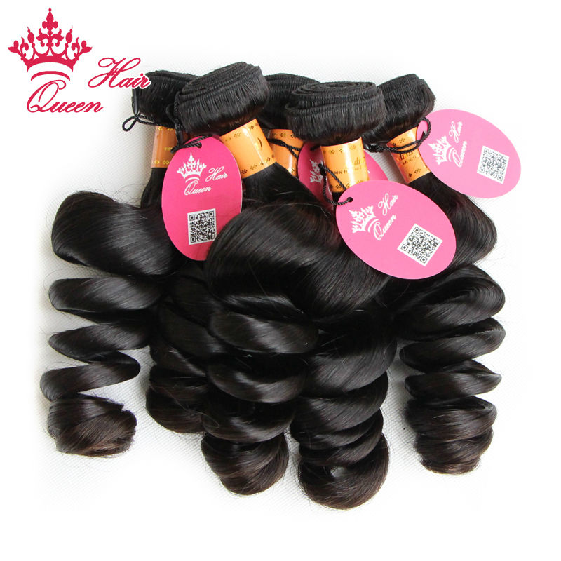 Queen Hair Products Wholesale Indian Virgin Hair Loose Wave 10pcs Lot Virgin  Human Hair Natural Color 1B Tangle Free DHL Free<br><br>Aliexpress