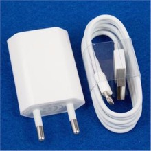 2017 White EU Wall Power Charger Adapter + USB Charging Cable For Iphone 5 5s 5c SE 6 6S 7 7Plus IOS 8 9 for Ipad