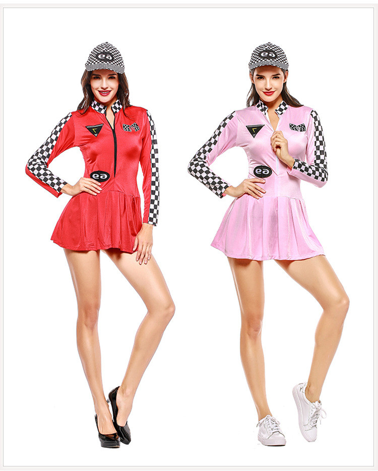 Back To Search Resultsnovelty & Special Use Popular Brand Sexy Race Car Driver Costume Racy Racer Girl Uniform Racing Cheerleader Dress With Hat Latest Technology Costumes & Accessories