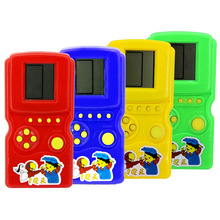 Retro Classic Childhood Tetris Handheld Game Players LCD Electronic Games Toys Game Console Riddle Educational Toy(China)