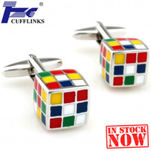 Magic Cube Cufflink Cuff Link 2 Pairs Free Shipping Promotion(China)