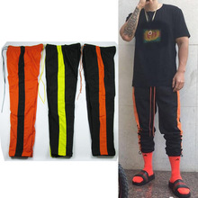 2017 korean streetwear urban gym popping hip hop clothing for big men sports pants 90s fashion striped joggers kanye west jogger
